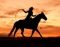 """Cowgirl Silhouette"""