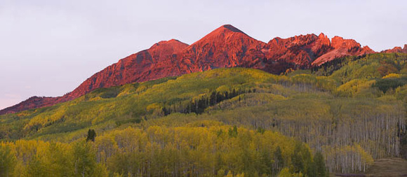 Ruby Peak in Fall, near Kebler Pass, Crested Butte, Colorado