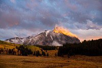 Crested Butte Mountain, fall stormlight